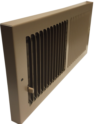 Shoemaker Brown Baseboard Register - 855 Baseboard Vent