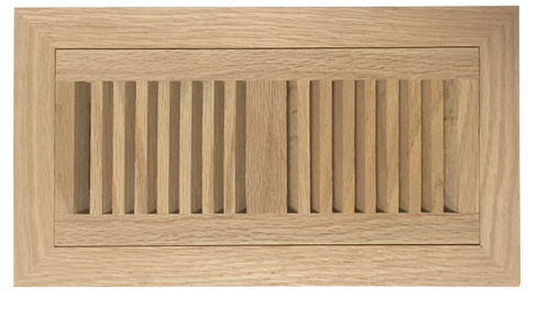 Unfinished Oak Wood Flush Mount Registers
