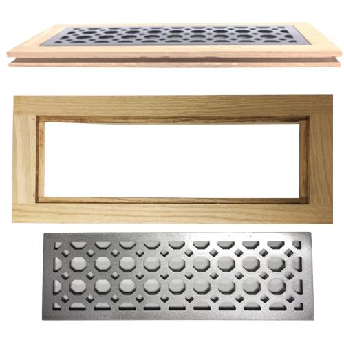 Decorative Floor Grates - Wood Floor Vents Flush