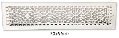 Plastic Baseboard Return Grille - Decorative Pattern