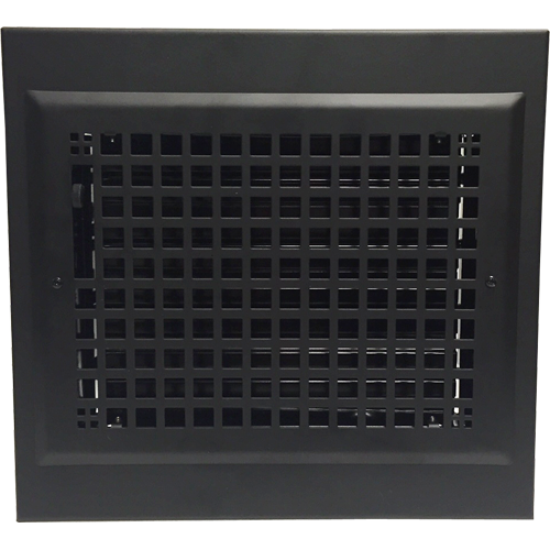 Gravity Baseboard Diffuser - Black Baseboard Register