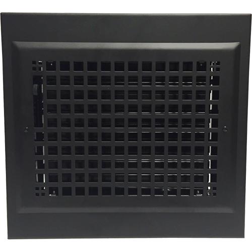Gravity Baseboard Diffuser - Black Baseboard Register