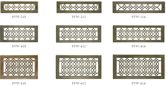 Hamilton Sinkler Wall Registers - Strathmore Decorative Wall Vents