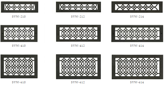 Hamilton Sinker Wall Vents - Black Decorative Wall Registers