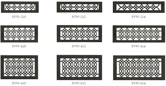 Hamilton Sinker Wall Vents - Black Decorative Wall Registers
