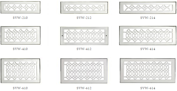 Hamilton Sinkler Wall Diffusers - Chrome Wall Registers