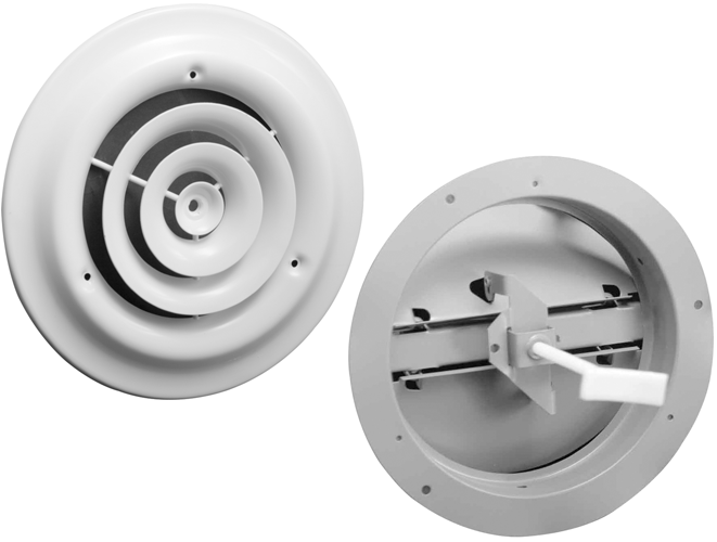 Hart & Cooley 16 and 12 Series Round Ceiling Register
