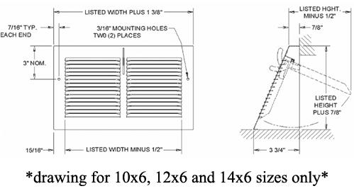 White Steel Triangular Baseboard Diffuser