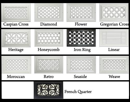 Plastic Wall Register Decorative Vents