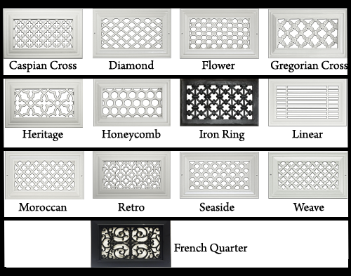 Distinguished Design Resin Wall Return Grilles - Available Designs