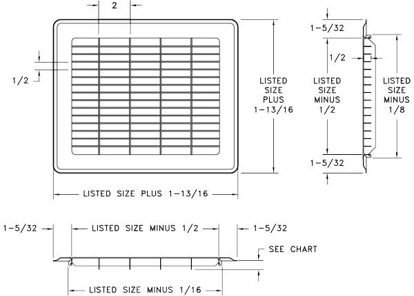 Heavy Gauge Steel Floor Grilles - White Floor Grates