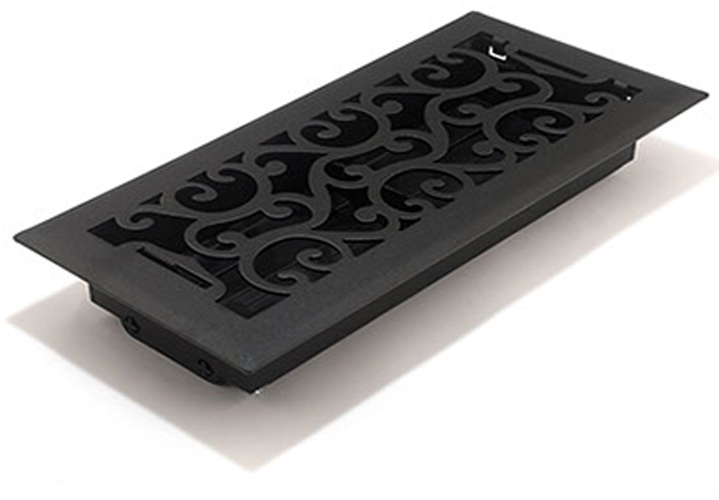 Charleston Black Floor Vents - Deoorative Floor Registers