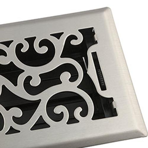 Accord Floor Vents - Charleston Nickel Decorative Floor Vents