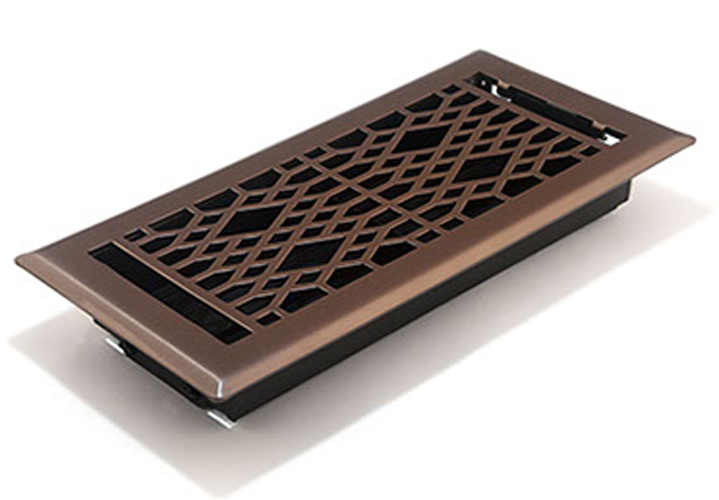 Light Oil Rubbed Bronze Floor Register by Accord Ventilation