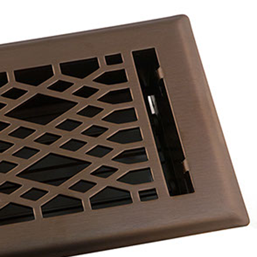 Decorative Floor Vents Cathedral - Light OIl Rubbed Bronze