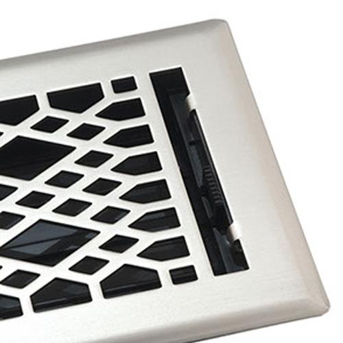 Satin Nickel Floor Register by Accord Ventilation