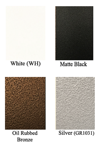Bronze Series Wall Registers Available Finishes