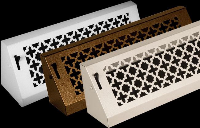 Victorian Baseboard Registers | Bronze Series Baseboard