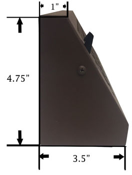 Dimensions of Victorian Baseboard