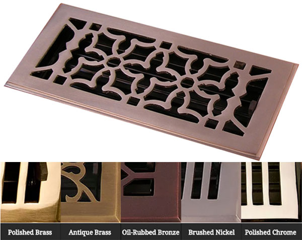 Solid Brass in 5 finishes Oriental by Coastal Bronze