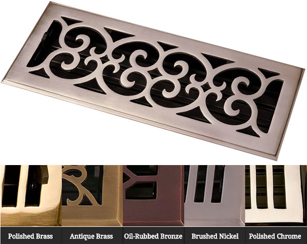 Solid Brass in 5 finishes Scroll by Coastal Bronze
