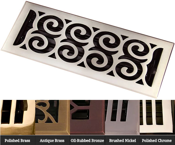 Solid Brass in 5 finishes Legacy Scroll by Coastal Bronze