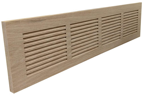 Unfinished Baseboard Grill shown in 30 x 6