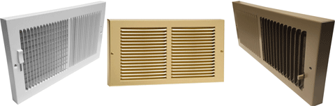 Rectangular Baseboard Register - Rectangular Baseboard Return