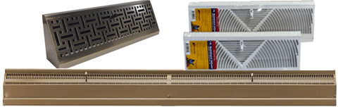 Traditional Baseboard Registers - Browse triangular baseboard diffusers by size