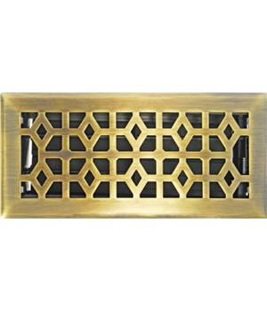 Marquis Design Solid Cast Floor Register Brass