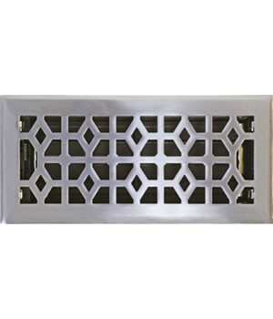 Solid Marquis Satin Nickel Floor Vent