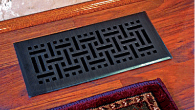 Oil Rubbed Bronze Register Floor Vent Cover
