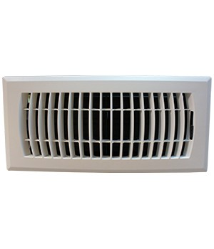 White Plastic Floor Vent - Rust Proof