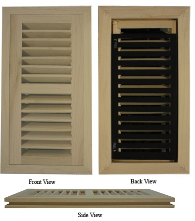 Maple Vent Flush Mount Register