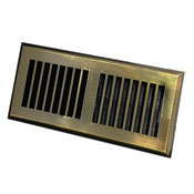 Plastic Contemporary Antique Brass Floor Register