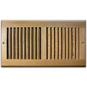 Return Air Grille - Light Oak Finish