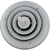 Accord White Round Register - 8 Inch