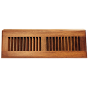 Brazilian Cherry Wood Baseboard Diffuser - Natural Finish