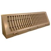 TruAire Plastic Brown Baseboard Register