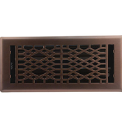 Cathedral Floor Register - Light Oil Rubbed Bronze Finish