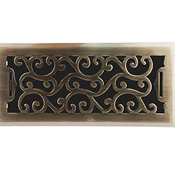 Charleston Floor Register - Antique Brass Finish