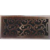 Charleston Floor Register - Oil Rubbed Bronze Finish