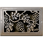 Classic Grills Grape Leaf Themed Registers - Aluminum