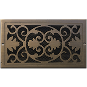 Classic Grills Victorian Themed Return Air Grills - Bronze