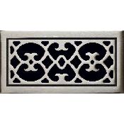 Classic Grills Renaissance Themed Registers - White Bronze