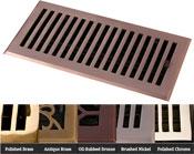 Coastal Bronze Brass Contemporary Floor Register - 5 Finishes