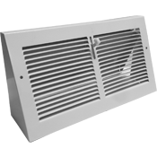 Triangular Baseboard Register Metal Air Vent
