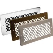 Steel Crest Decorative Baseboard Grill