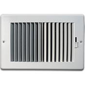Plastic Sidewall Ceiling Register - White