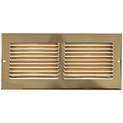 Return Air Grille - Brass Plated